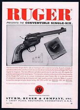 1961 RUGER Convertible Single-Six Revolver Vintage Gun Photo AD