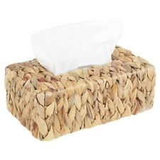 Eco Water Hyacinth Tissue Box Holder Dispenser Cover Hanky Bathroom Woven Wicker