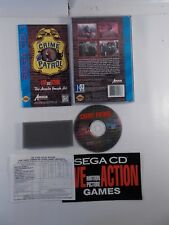 SEGA CD CRIME PATROL VIDEO GAME COMPLETE 1994