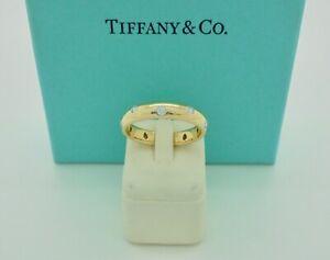 Authentic Tiffany & Co. Etoile Diamond 18k Yellow Gold Band Ring US7 - $4,500