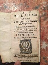 Bartolomeo da Salutio: Luce dell'anima, Venezia Brezzi, 1622, RELIGIONE SOCANA