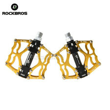 RockBros Road Bike Cycling Aluminum Alloy Sealed Bearing Bicycle Pedals Gold