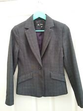 Next Petite Womens Charcoal Grey Tailoreed Blazer Jacket size 8 Petite New