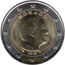 NEW !!! 2 EURO FDC MONACO 2018 Principe Alberto II NEW !!!