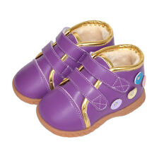 GILI toddler Leather girl Boots purple baby kids child s4.5-7 appx1-3yro walkers