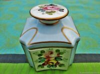 Ancien pot  en porcelaine peinte de Sèvres France Antique jar bottle caddy Sevre