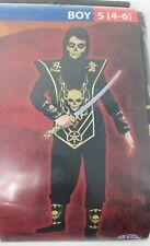 Skull Lord Ninja Halloween Costume Boys Size Small 4-6 New 6 Piece Set
