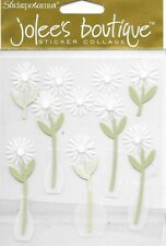 JOLEE'S BOUTIQUE White Daisies Embellishments Vellum Flowers in Vases