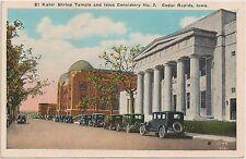 El Kahir Shrine Temple and Iowa Consistory No. 2 in Cedar Rapids IA Postcard