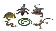 Animal Reptile Figure Gift Set Realistic Models  Nature Crocodile Snake Frog