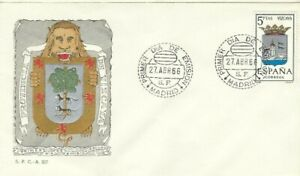 FDC Primer día España 1966 Escudos VIZCAYA