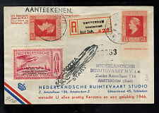 1946 Netherlands Rocket Mail Picture Postcard Cover to amsterdam