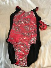 GK LEOTARD ADULT SMALL NEW WITH TAGS PINK BLACK SILVER