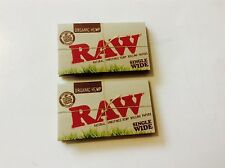 RAW Organic SINGLE WIDE ( Double Window ) 2 Pack ( 100 Leaves )