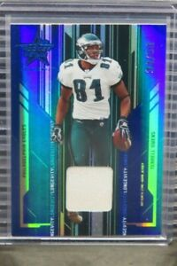 2005 Playoff Terrell Owens Jersey Blue Parallel #34/50 Eagles D968