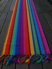TABLE RUNNER 180CM LONG  'KATIE' BRIGHT MEXICAN LOOK STRIPES - VERY VIBRANT