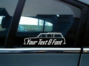 2x Custom YOUR TEXT 4x4 sticker - for Jeep Grand Wagoneer | classic, vintage