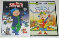 Holiday DVD Lot - Caillou's Holiday Movie (New) Big Kid Caillou (New)