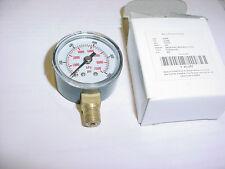 """Pressure Gauge 1-1/2"""",0-1000 Psi bronz brass WATER OIL AIR HYD HYDRAULIC 1/8BSPT"""