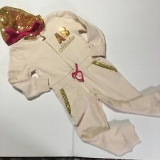 Toddler 3T Apple Bottom Jeans One Piece Track Suit Jumpsuit