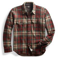 $795 RRL Ralph Lauren Wool Cashmere Blend Work Shirt Sweater-MEN- S