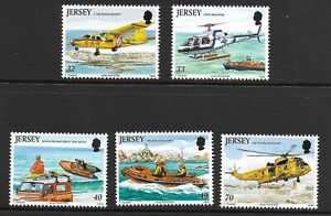 JERSEY 2005 RESCUE CRAFT SG 1185-1189  SET 5 MNH.