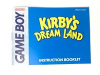 Kirby's Dream Land Game Boy Nintendo Instruction Manual Booklet Book ONLY