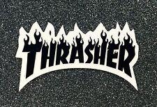 Thrasher Flame Skateboard Sticker small 3in black si