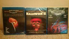 Pack 3 BLU-RAY Jamie Lee Curtis:Halloween. Carpenter+Halloween II+Halloween III