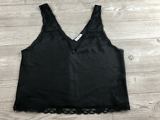 Womens Vintage Christian Dior Black Lace Cami, Size Medium