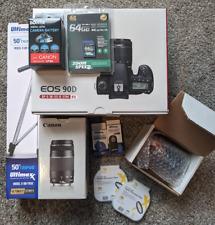 Canon EOS 90D DSLR Camera + 18-55mm STM + 75-300mm + 7 Piece Accessory Bundle
