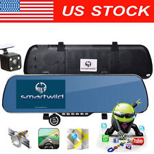 GPS Navigation HD 1080P Android Rear View Mirror Camera CAR DVR Smartwild W840