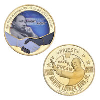 WR Martin Luther King Jr.Gold Collect Moneda Coin PREMIO DE LA PAZ DE NOBEL