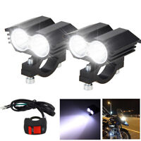 Motorcycle Headlight 6500Lumens LED 20W Driving Fog Lamp Spot Lights+ Switch Kit