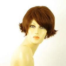 perruque femme 100% cheveux naturel châtain clair cuivré ref CLARA 30