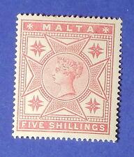 1886 MALTA 5S SCOTT# 14 S.G.# 30 UNUSED  CS16271