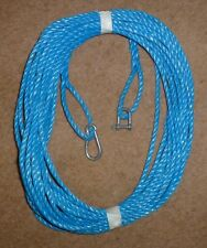 100 FT OF NEW 6MM ROPE ANCHOR BOAT MOORING W SNAP HOOK AND D SHACKLE P