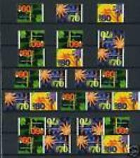 Nederland alle combinaties  uit  postzegelboekje 45  postfris/MNH