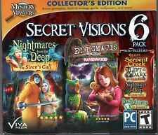 ENIGMATIS The MIST OF RAVENWOOD Hidden Object 6 PACK SECRET VISIONS PC Game NEW