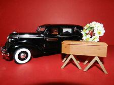 MODIFIED Unique Replicas 1937 STUDEBAKER HEARSE  with coffin  wreath 1/24 Boxed
