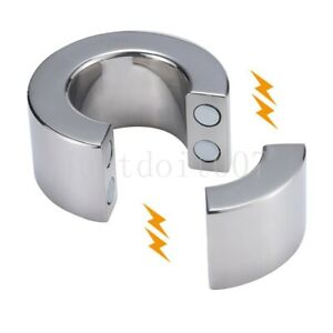 Magnetic Stainless steel Heavy Duty Ball Stretcher Man Enhancer Chastity Ring