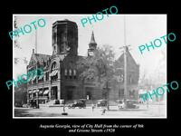 OLD 8x6 HISTORIC PHOTO AUGUSTA GEORGIA VIEW OF CITY HALL GREENE ST c1920