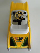 Yellow Pedal Car Vintage Sport Hot Rod Midget Metal Show Model