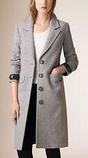 Nouveau Femme Burberry gris laine et cachemire-Blend Manteau | Taille UK 6 RRP £ 995