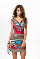 Lady Dashiki Summer Traditional African Dress Casual Clubwear Party Mini Dress