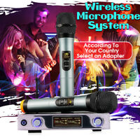 ARCHEER LCD Display Wireless VHF Microphone System + Dual Handheld Karaoke  lL