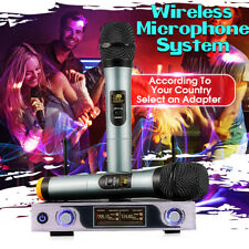 ARCHEER LCD Display Wireless VHF Microphone System + Dual Handheld Microphones