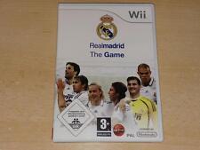 Real Madrid el juego Nintendo Wii PAL ** GRATIS UK FRANQUEO **