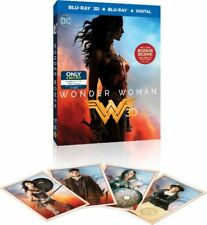 WONDER WOMAN 3D BEST BUY EXCLUSIVE BLU RAY + COLLECTIBLE TRADING CARDS [NEW]