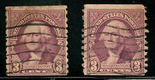 Us 1932 Scott #720 George Washington por Gilbert Stuart 3 Cents STAMP - PAIR!